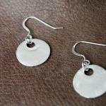 Fine Silver Disc Earrings ..